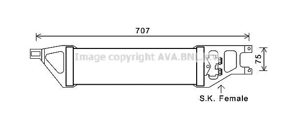 MERCEDES-BENZ B-Klasse 2017 Getriebe Ölkühler - Original PRASCO MS3539