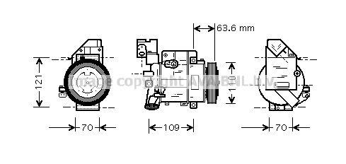 Original MERCEDES-BENZ Kompressor MSAK075