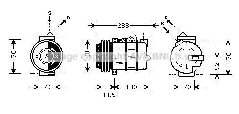 Original MERCEDES-BENZ Kompressor MSAK277