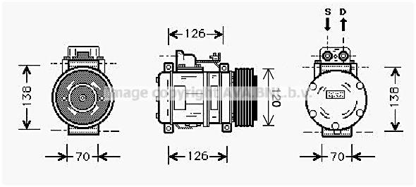 Original MERCEDES-BENZ Klimakompressor MSK057