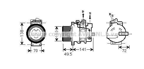 Original MERCEDES-BENZ Kompressor Klimaanlage MSK476