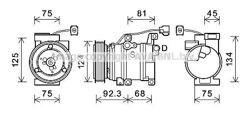MZAK219 PRASCO Kältemittel: R 134a Klimakompressor MZAK219 günstig kaufen