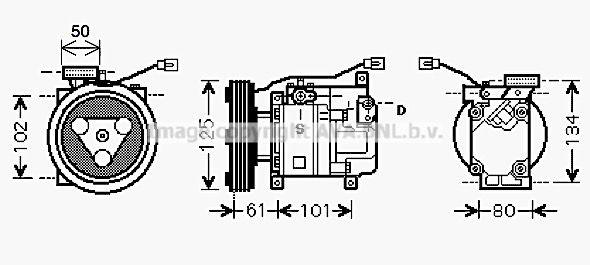 MZK207 PRASCO Kältemittel: R 134a Riemenscheiben-Ø: 125mm Klimakompressor MZK207 günstig kaufen