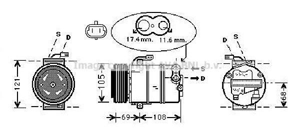 Klimakompressor PRASCO OLAK316