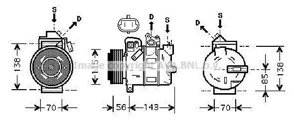 Klimakompressor PRASCO OLAK357