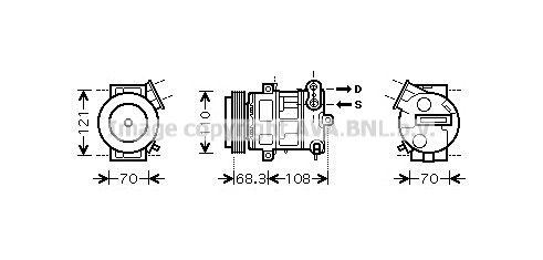 PRASCO Ilmastoinnin kompressori OLAK418