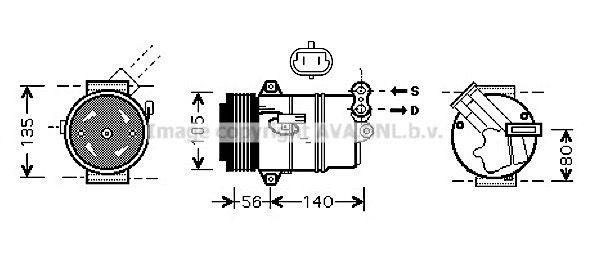 Kompressor Klimaanlage PRASCO OLAK428
