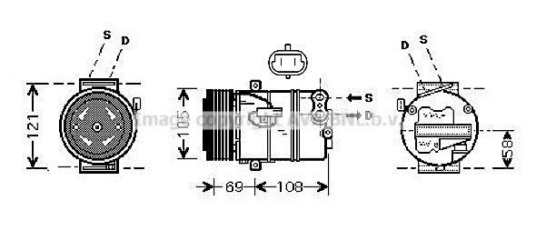 Kompressor Klimaanlage PRASCO OLAK438