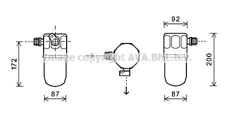 Original OPEL Trockner Klimaanlage OLD563