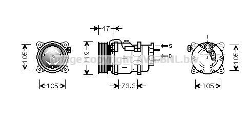 PRASCO Klimakompressor PEK242