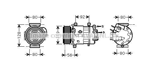 PRASCO Klimakompressor PEK320