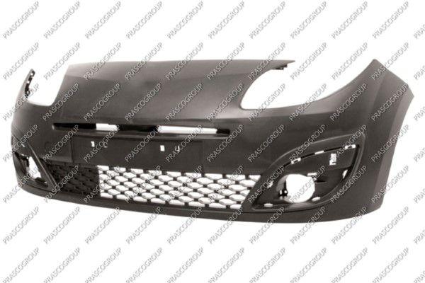 RN3061001 PRASCO vorne, glatt, schwarz, mit integriertem Gitter Stoßstange RN3061001 günstig kaufen