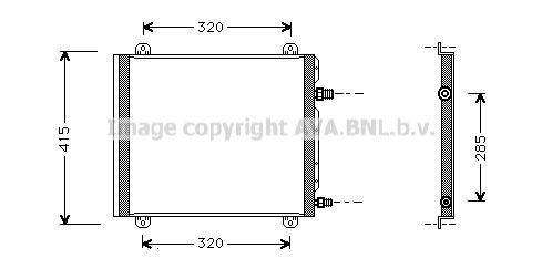 Original RENAULT Klimakühler RT5235