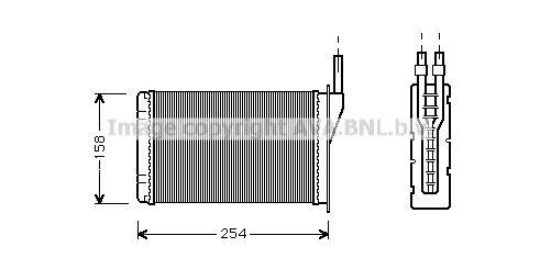 PRASCO RT6087 (ailettes jointes mécaniquement) : Pièces de climatisation Twingo c06 2005