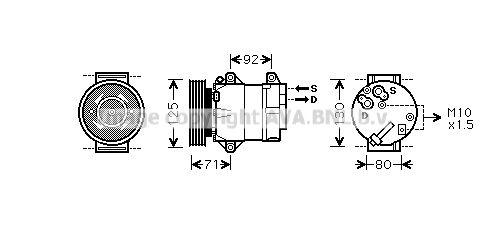PRASCO Klimakompressor RTAK103