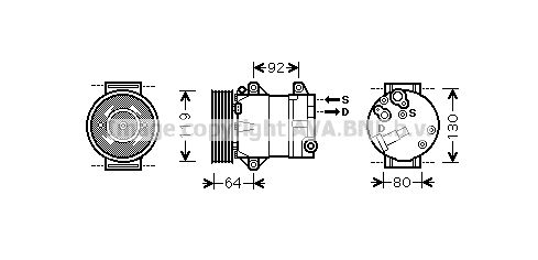 Original RENAULT Kompressor RTAK429