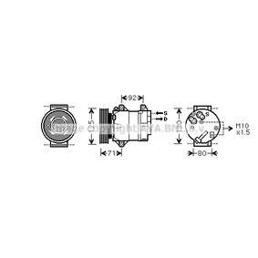 RTK103 PRASCO Kältemittel: R 134a Riemenscheiben-Ø: 125mm Kompressor, Klimaanlage RTK103 günstig kaufen