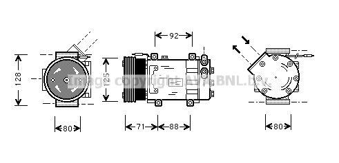 Original RENAULT Kompressor RTK127