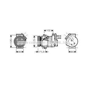 RTK393 PRASCO Kältemittel: R 134a Riemenscheiben-Ø: 120mm Kompressor, Klimaanlage RTK393 günstig kaufen