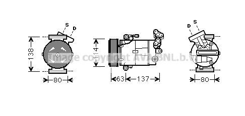Original RENAULT Kompressor Klimaanlage RTK437