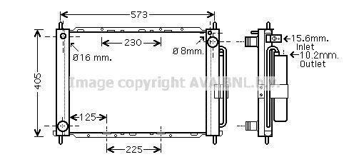 Koelmodule RTM405 RENAULT CLIO met een korting — koop nu!
