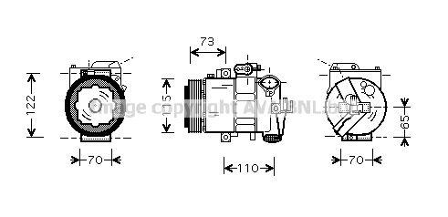 Original SEAT Kompressor SAAK018