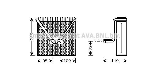 Original RENAULT Klimaverdampfer SAV011