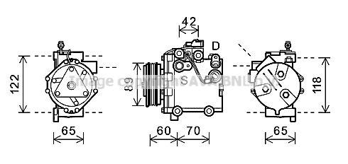 OE Original Kompressor SZAK125 PRASCO