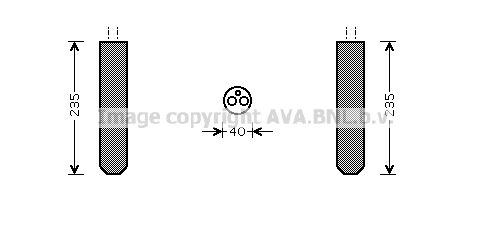 PRASCO Filtre déshydratant, climatisation TOD017