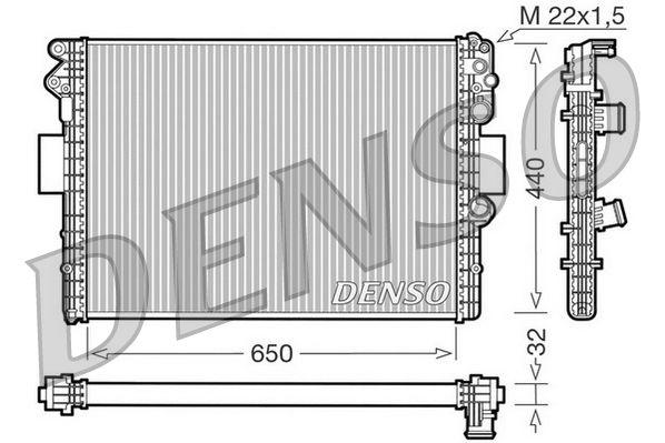 DENSO Kühler, Motorkühlung DRM12001