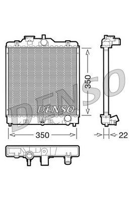 OE Original Autokühler DRM40003 DENSO