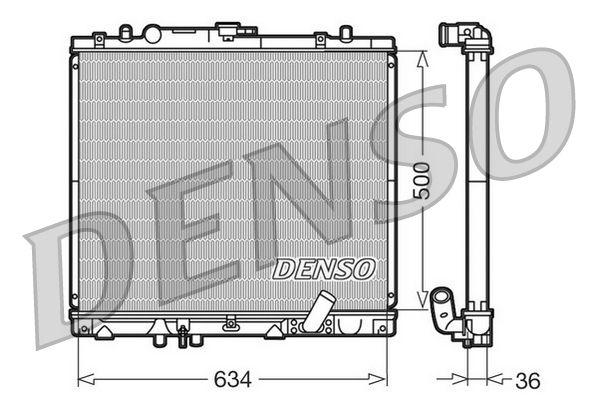 DRM45020 DENSO Aluminium Kühler, Motorkühlung DRM45020 günstig kaufen