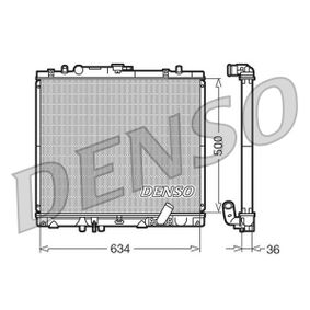 DRM45020 DENSO Aluminium Netzmaße: 634x500x36 Kühler, Motorkühlung DRM45020 günstig kaufen