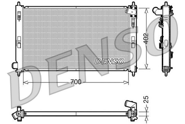 DRM45032 DENSO Aluminium Kühler, Motorkühlung DRM45032 günstig kaufen