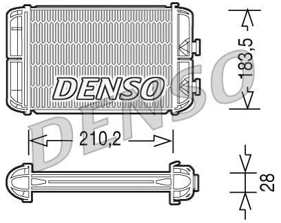 DRR20004 DENSO Netzmaße: 210,2x183,5x25 Wärmetauscher, Innenraumheizung DRR20004 günstig kaufen