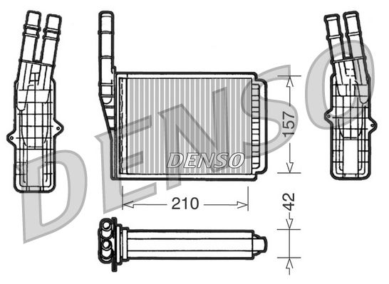 OE Original Wärmetauscher Innenraumheizung DRR23013 DENSO