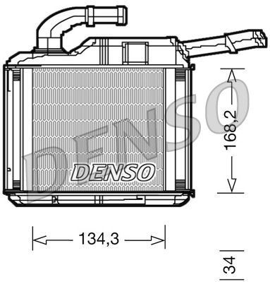 DRR32010 DENSO Netzmaße: 134,3 x 168,2 x 34 Wärmetauscher, Innenraumheizung DRR32010 günstig kaufen