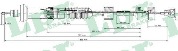 LPR Seilzug, Kupplungsbetätigung C0028C