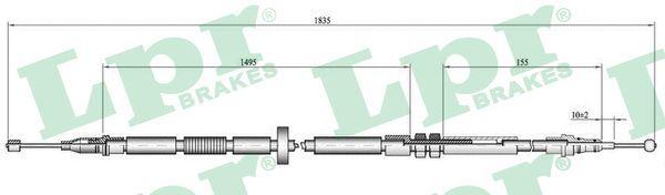 AUDI A4 2009 Handbremse - Original LPR C0052B Länge: 1815/1640mm