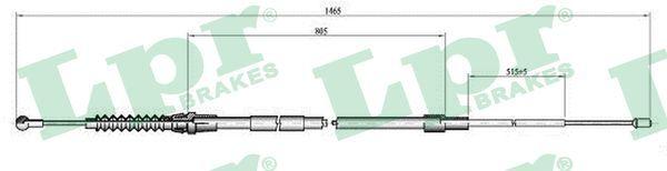 LPR: Original Handbremsseil C0064B (Länge: 1443/805mm)