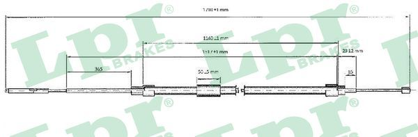 LPR: Original Bremsseil C0076B (Länge: 1703/1140mm)