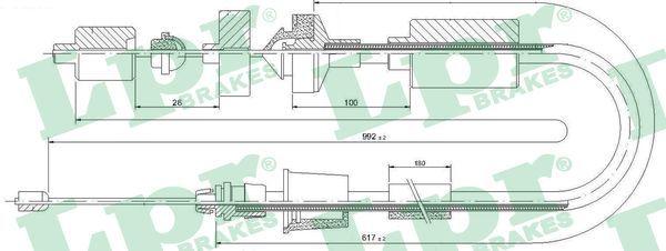 RENAULT SCÉNIC 2001 Kupplungsseil - Original LPR C0202C