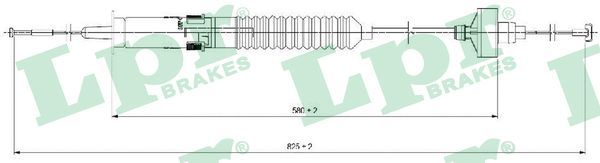 LPR Seilzug, Kupplungsbetätigung C0266C