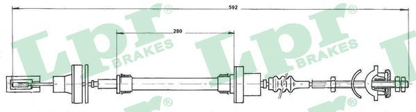 LPR Seilzug, Kupplungsbetätigung C0272C