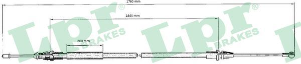 LPR: Original Seilzug Feststellbremse C0707B (Länge: 1735/1440mm)