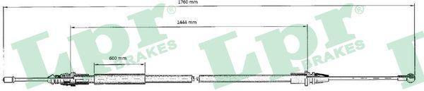 LPR: Original Handbremse C0707B (Länge: 1735/1440mm)