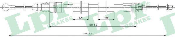 LPR: Original Handbremsseil C0733B (Länge: 1496/1365mm)