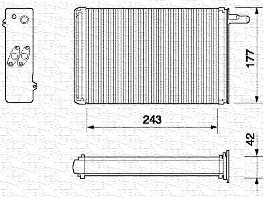 BR056 MAGNETI MARELLI Wärmetauscher, Innenraumheizung 350218056000 günstig kaufen