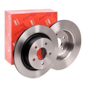 DF6150 TRW Voll, lackiert Ø: 280mm, Lochanzahl: 5, Bremsscheibendicke: 11mm Bremsscheibe DF6150 günstig kaufen