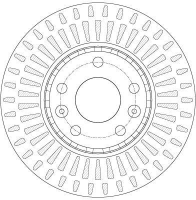 DF6184 Bremsscheibe TRW in Original Qualität